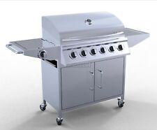FoxHunter 6 Burner BBQ Gas Grill Stainless Steel Barbecue + 1 Side Outdoor New