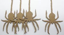{5} GOTHiC HANGiNG SPiDERS - Halloween Bare Unfinished Chipboard Die Cuts - 5""