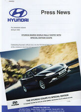 Hyundai Coupe F2 Special Edition Model Press Release/Photograph - 1998