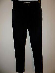 Ladies George Denim Black Skinny Jeans Size 8 Short Length Excellent Condition