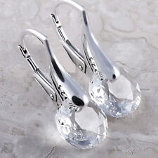 925 Sterling Silver Leverback Earrings *Classic Cut* Crystals from Swarovski®