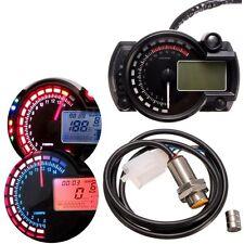 15000rpm Motorcycle Universal LCD Digital Speedometer Tachometer Odometer US