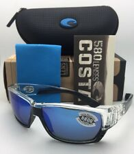 cc2d11dad2 Polarized COSTA Sunglasses TUNA ALLEY TA 39 Crystal-Black Frame with Blue  Mirror