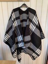 Women's Primark Black Check Cape Jacket One Size