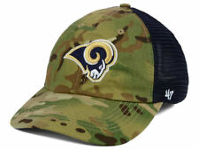 on sale 7f56d e7ef5 Los Angeles Rams NFL Compass Relaxed  47 CLOSER Cap Flex Fitted Camo Hat NWT