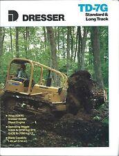 Equipment Brochure - Dresser - TD-7G Standard Long Track Crawler c1989 (E3361)