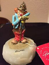 RON LEE CLOWN FIGURINE SLEEPING ON BROOM SIGNED AND NUMBERED RARE