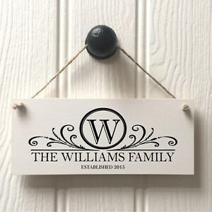 Family Name Plaque Sign - Personalised Housewarming New Home Gift Handmade