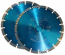 2 x TURBO Diamant Trennscheibe 230mm Universal  Profi Diamanttrennscheibe 230