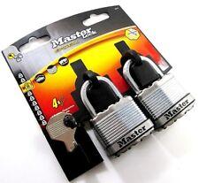 Master Lock Excel M1T Laminated Steel 45MM Padlock 24MM Shackle, 4x Keys, New
