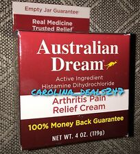 NEW Australian Dream 4 oz. Jar Arthritis Pain Expires JAN 2019