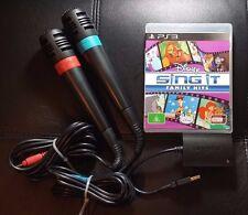 Singstar Bundle - Disney Sing It Family Hits & 2 Microphones - PS3 Game