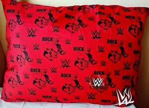 """WWE WWF """"THE ROCK"""" Large 27"""" X 36"""" Dog Pillow/Bed Solid Red NWT"""