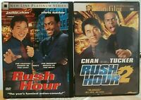 """""""RUSH HOUR 1, 2"""" (2 DVD Lot) Chris Tucker COMEDY Jackie Chan ACTION Martial Arts"""