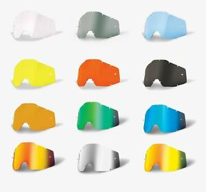 100% Gen 1 Goggle Replacement Lens -ALL COLORS- Strata 1 Racecraft 1 Accuri 1