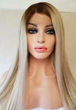 Ash Silvery Light Blonde, Human Hair Wig, Lace Frontal, Transparent Lace