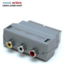 Scart Adapter für Spielekonsolen Fehrnseher Stecker TV AV 3x Cinch RGB RCA Kabel