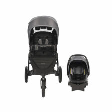 Evenflo Folio3 Stroll and Jog Travel System with LiteMax Car Seat, Avenue Gray