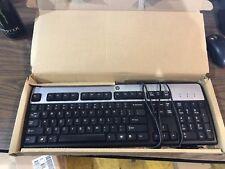NEW Genuine HP KU-0316 Black and Silver USB Wired Keyboard 434821-002 537746-001
