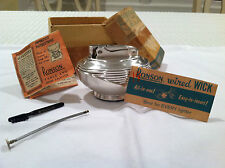 Art Deco! RARE Vtg RONSON wired wick table lighter Complete With papers and box