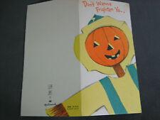Vtg 1970's Slim Jim's Hallmark HALLOWEEN Invite Scarecrow JOL Invitation UNUSED