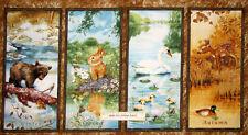 SPX Four Seasons Wee Wild Life Deer Fawn Bear Duck Rabbit Cotton Fabric PANEL