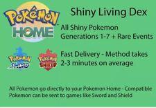 Pokemon Home Shiny Living Dex Gen 1-7 900+ Pokémon, Event Pokémon