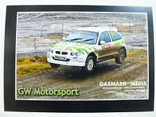 GW Motorsport Rally Rover WALES RALLY GB Official Photocard