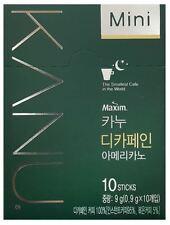 Korea Maxim KANU Columbia Blend decaf Americano Korean Instant Coffee 10Sticks