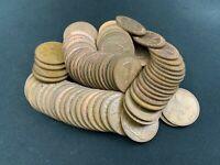 LOT of 72 United Kingdom Great Britain Elizabeth II One Penny 1953-1967 VARIOUS