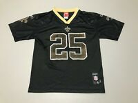 Reggie Bush #25 New Orleans Saints NFL Black Reebok Jersey Youth Size L 14-16