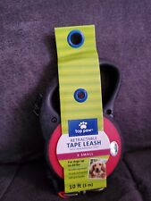 NEW! RED Retractable Tape Leash 10 Feet X-Small Up to 20 Pounds TOP PAW