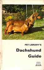 Dachshund Guide, Pet Library, Brunotte 1st edn 1969 dog