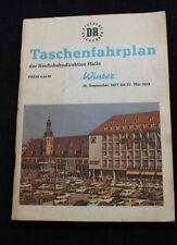 Deutsche Reichsbahn Taschenfahrplan HALLE Winter 1971