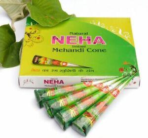 Mehndi Cone NEHA HENNA Natural Herbal Temporary Tattoo Ink Body PAINT Mehandi