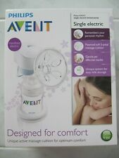 PHILIPS AVENT SINGLE ELECTRIC BREAST PUMP BPA FREE MODEL: SCF312/01 EXC COND