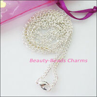 3 Necklaces 2.5mm Ring Chains With Lobster Clasps Gold Silver Bronze Plated 80cm