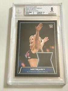 2014 Topps WWE Swatch Relics NATALYA Neidhart WRESTLEMANIA Diva WORN Shirt BGS