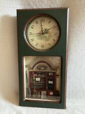 Vintage Fishing Shadow Box Clock , Cabin/ Man Cave Display
