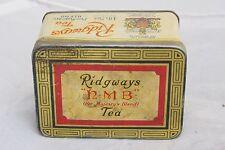 Antique Tin Box Ridgways HMB Tea Her Majesty Blend Made in England