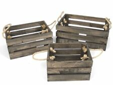 Arte étnico/Artesanía de mundo Cofre pirata 28x21x21cm marrón madera aspecto antiguo caja almacenamiento baúl