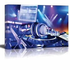 "Canvas Prints Wall Art - Dj Mixer with Headphones at Nightclub - 16"" x 24"""