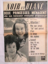 NOIR ET BLANC 888 DEUX PRINCESSES MENACENT DE SE LAISSER MOURIR D'AMOUR