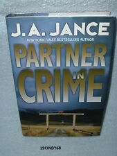 "2002 FIRST EDITION HARDCOVER BOOK ""PARTNER IN CRIME""  BY J.A. JANCE"