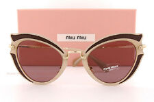 Brand New Miu Miu Sunglasses MU 05SS VHY 6X1 Brown/Brown Purple For Women