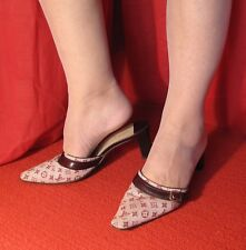 Louis Vuitton Italy Mini Lin Pointed Toe Mules 36.5 6