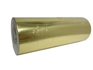 """Jewelry 7.5""""  x 150 ft Gold Gloss Foil Gift Wrapping Paper Quality Christmas"""