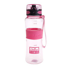 600ml Plastic Leak-proof Large Capacity Nozzle Sport Water Bottles Cup Filter Pink
