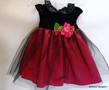 Baby Toddler Party Formal Dress Tulle Size 18 Months Black Pink