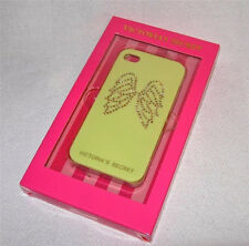 Victoria's Secret Yellow with Gold Rhinestone Angel Wings iPhone 4/4s Case Cover